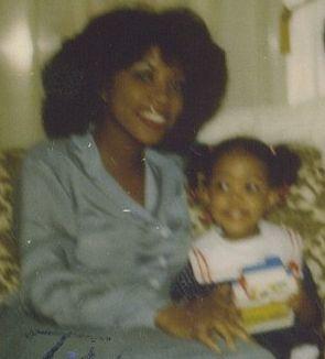 Tamara (pictured left) with daughter Stacia, circa 1983