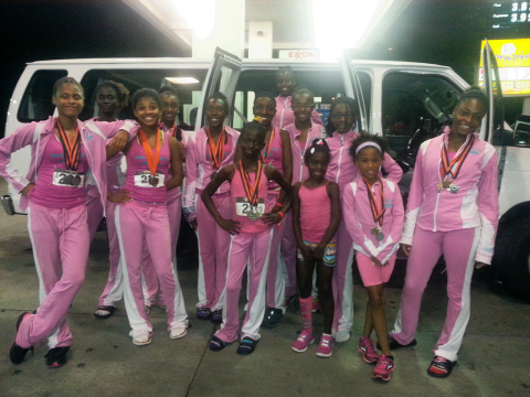 After yesterday's competition in Atlanta, the girls were still all aglow, after winning major medals and meeting some of their heroes.